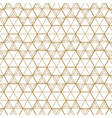 japanese gold background and pattern geometric vector image vector image