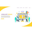 jewellery design website landing page vector image