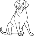 labrador retriever dog cartoon for coloring vector image vector image