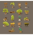 Landscaping Design Set vector image vector image