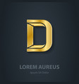 Letter D elegant gold font Template for company vector image vector image