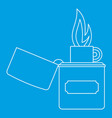 lighter icon outline style vector image vector image