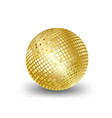 mirror ball gold elements for artwork greeting vector image