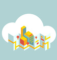 modern city map in the cloud vector image vector image