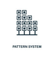 pattern system icon monochrome style design from vector image vector image
