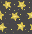pattern with hand-drawn stars vector image vector image