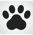 paw print icon dog or cat pawprint animal vector image vector image