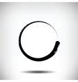 Pinstripe circle grunge black background vector image