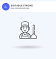 plumber icon filled flat sign solid vector image vector image