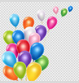 realistic balloons background template vector image vector image