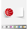 realistic design element basketball vector image vector image
