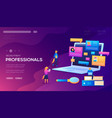 recruitment professionals landing page vector image vector image