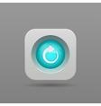 Refresh button vector image
