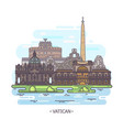 religion landmarks vatican city architecture vector image vector image