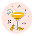retro yellow margarita vector image vector image