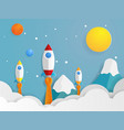 rocket launcher startups vector image vector image