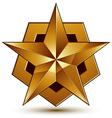 Royal golden geometric symbol stylized golden star vector image vector image