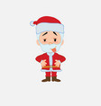 santa claus in waiting attitude with funny vector image vector image