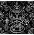 seamless pattern with fantasy crosses 5 vector image vector image