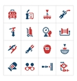 Set color icons of welding vector image