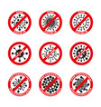 set coronavirus ncov covid19 - 19 logos vector image