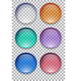 set of colorful transparent buttons element for vector image