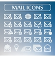 Set of flat mail icons vector image vector image