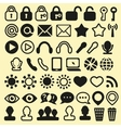 Set of Icons for Mobile Media and Web vector image