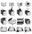 Set of icons of books vector image vector image