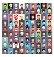 Set of people icons in flat style with faces 04 b vector image vector image
