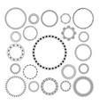 set of round decorative patterns frame vector image