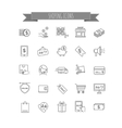 Shopping icons E-commerce vector image