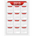 simple calendar 2015 year vector image