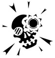 skull light symbol vector image