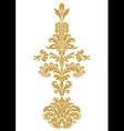 stylized floral design element damask vector image vector image