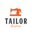 tailor vintage logo inspiration sewing machine vector image vector image