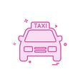 taxi icon design vector image