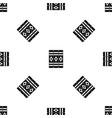 three literary books pattern seamless black vector image vector image