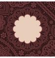 Ugadi day mandala blank Template vector image