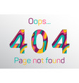 web 404 error the page not found concept vector image