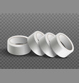 white realistic sticky tape roll stack isolated on vector image vector image