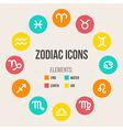 Zodiac signs set vector image vector image