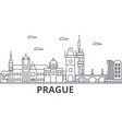 prague architecture line skyline vector image