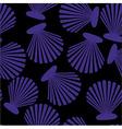 Shells seamless pattern vector image