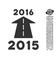 2016 future road icon with professional bonus vector image vector image