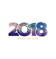 2018 happy new year background fireworks numbers vector image
