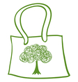 A green recycled bag vector image