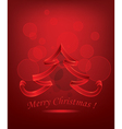 Abstract Red Christmas Tree vector image vector image