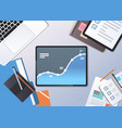 analysis financial graph finance business chart vector image vector image
