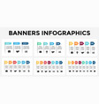 arrows banners infographic templates set vector image vector image